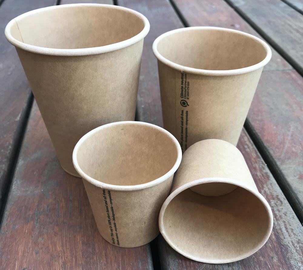 Biodegradovateľné poháre na kávu, čaj, víno