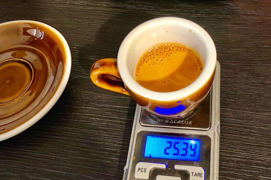 Espresso a jeho váha