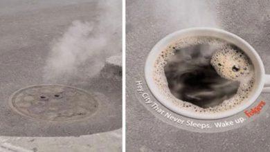 Photo of Zvláštny pokus o reklamu na kávu: Rozvoniavajúci kanálový poklop