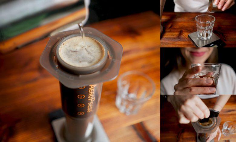Príprava kávy cez aeropress: umelecké video