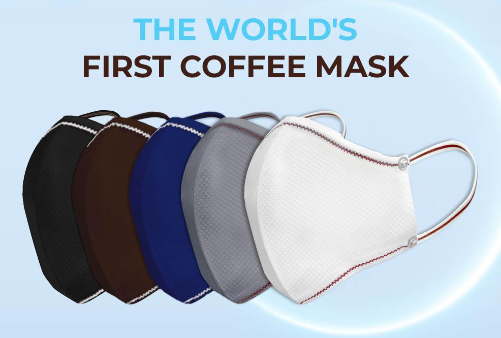 Masky/rúška vyrobené z kávy