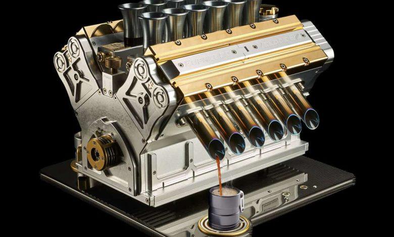 motor Formuly 1 ako kávovar