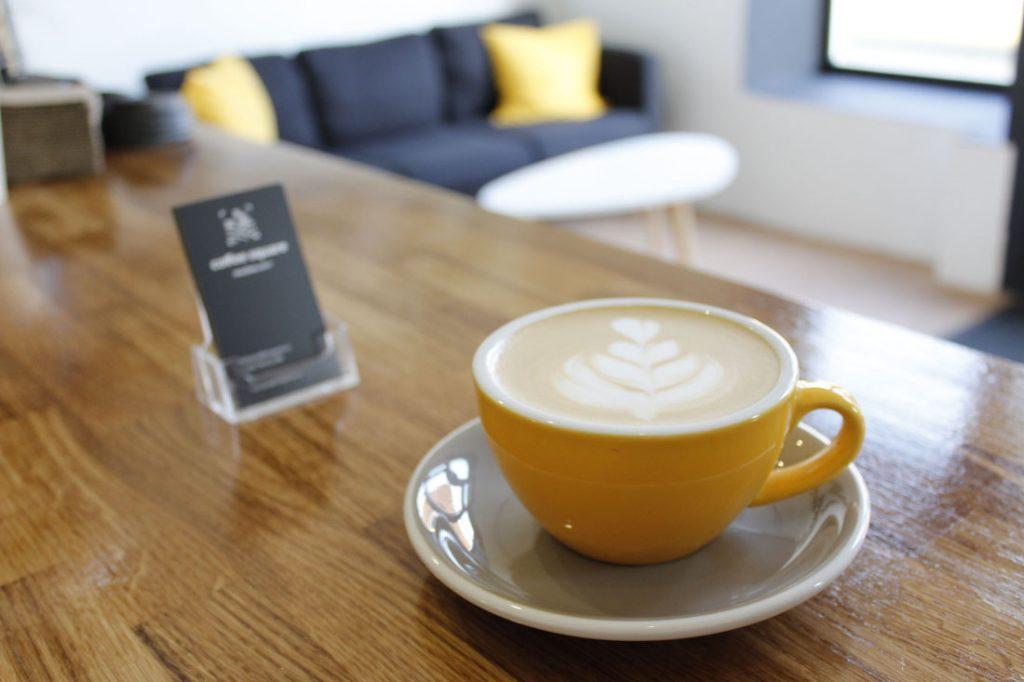 Kvalitná výberová káva v priestoroch coffeesquare