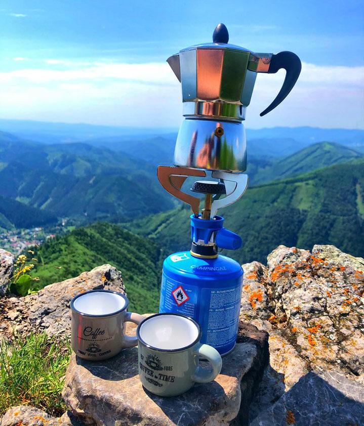 Káva v horách, káva na Majerovej skale