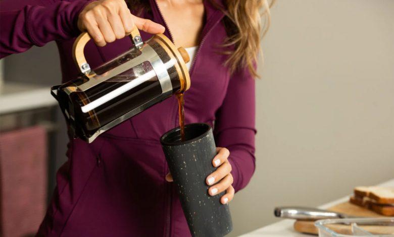 french press a pohár na kávu Circular