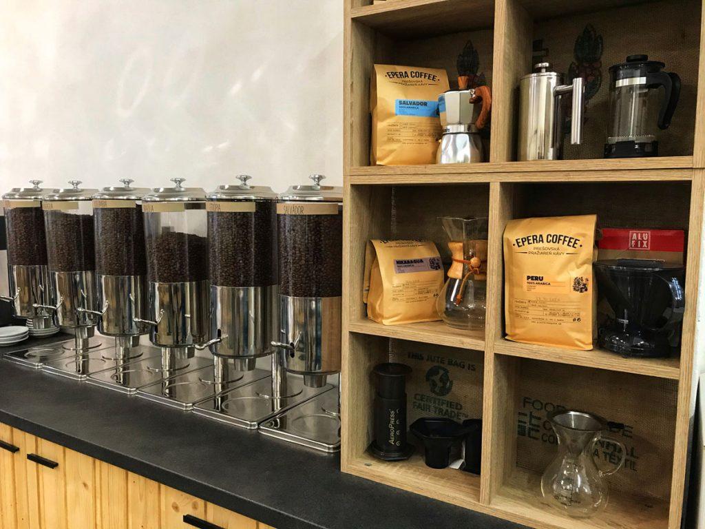 Epera Coffee - vnútorné priestory pražiarne