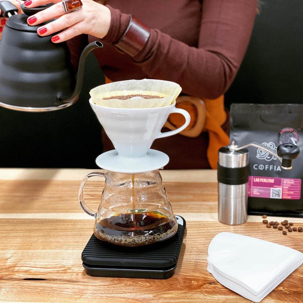 príprava filtrovanej kávy