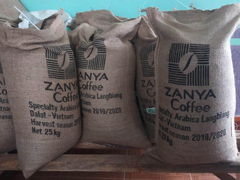 jutové vrecia Zanya Coffee