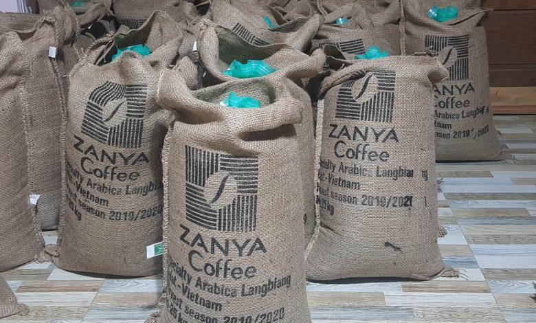 jutové vrecia s kávou