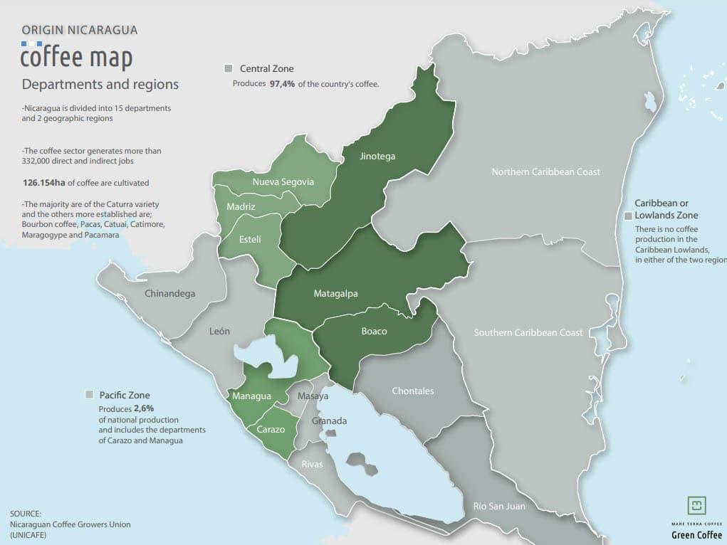 pestovanie kávy v Nikarague