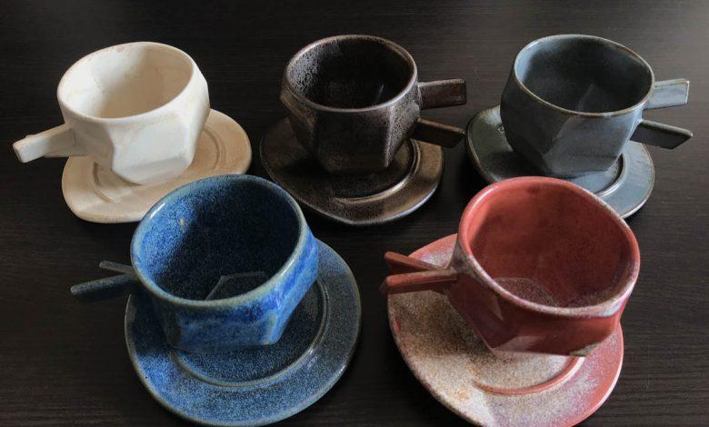 úžitková keramika, šálky na kávu
