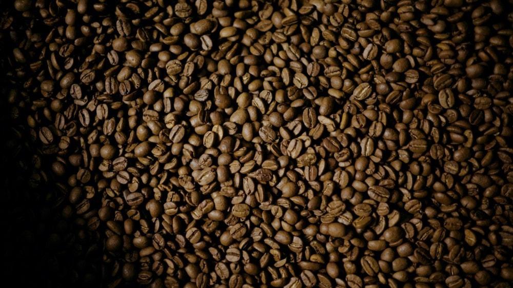 kávové zrná v pražiarni Coffeein